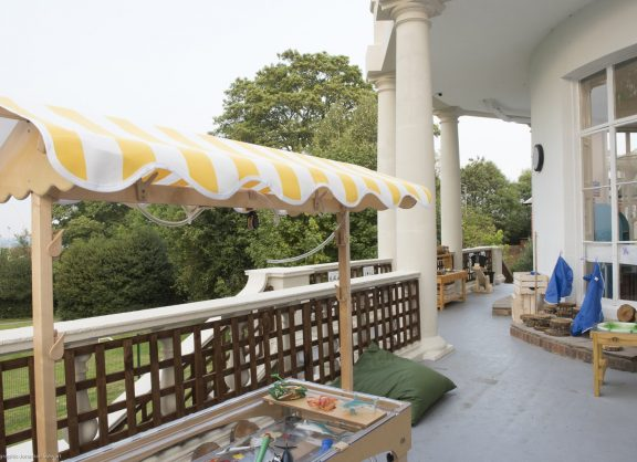 Balcony for outdoor learning