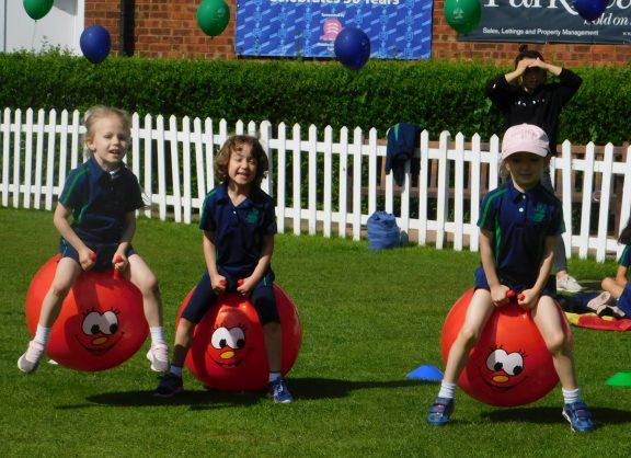 Space hopper race on Sports day