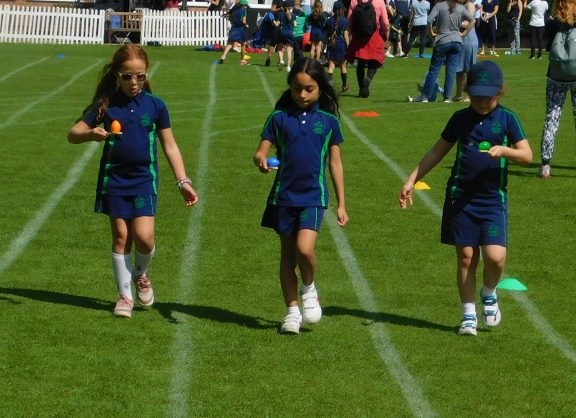 Egg and spoon race on Sports Day