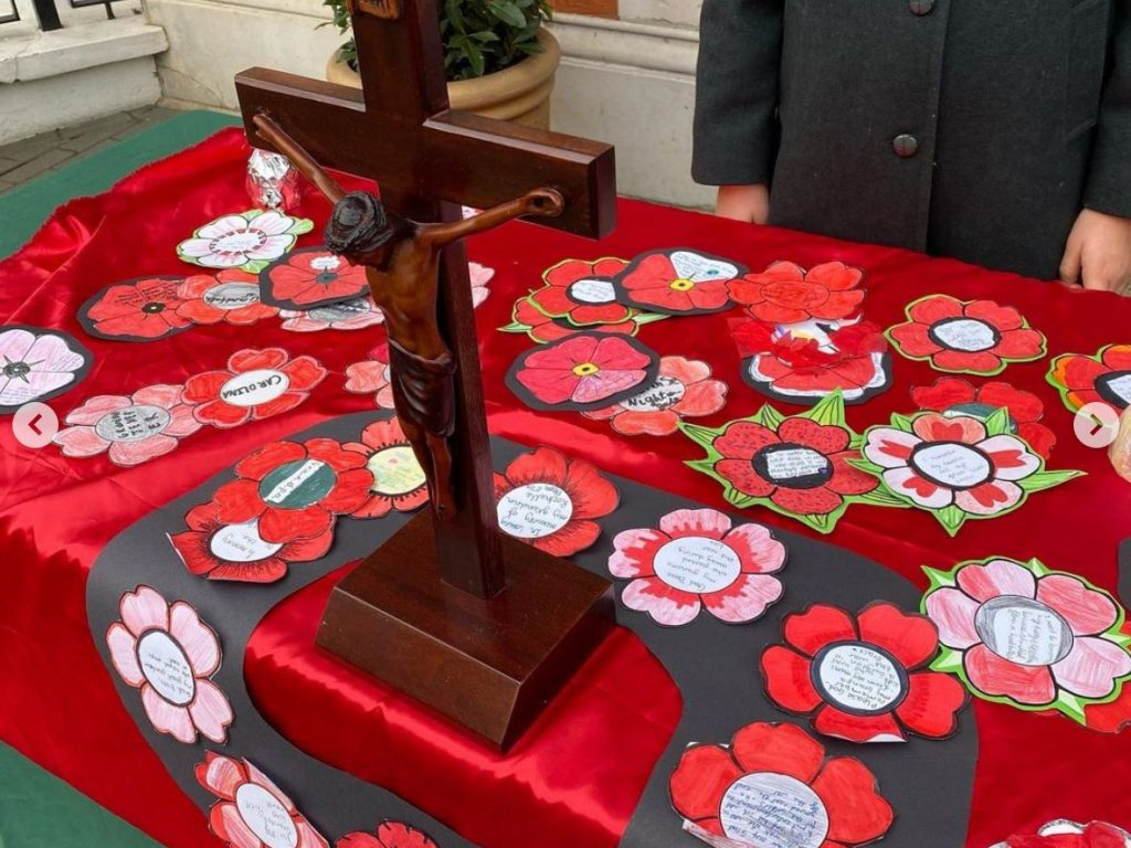 Homemade poppies for Remembrance
