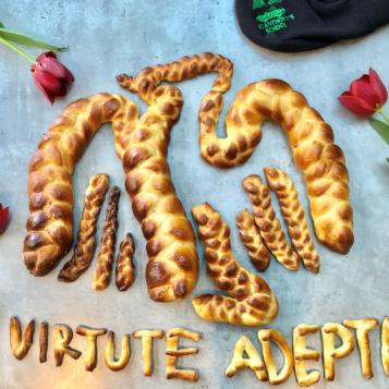 SAG logo made of bread